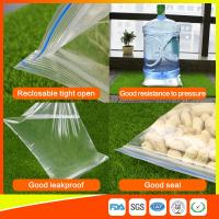 Cheap Packing Ziplock Bags Customized LDPE polybags food packing clear grip seal for sale