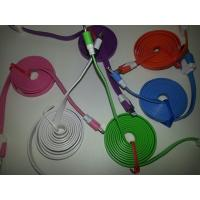 China Colorful Flat Noodle USB Cable for iphone 5 10 colors available on sale