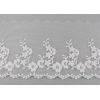 Best Ivory Cotton Lace Trim With Floral Lace Design Nylon Net For Bridal Dress Ribbon wholesale