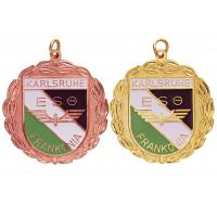 Best Brass / Copper / Pewter Custom Awards Medals with Soft Enamel, Gold / Copper Plated wholesale