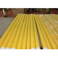 Best Low Elongation Monofilament Polyester Screen Printing Mesh With White And Yellow wholesale