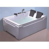 Best 2 people comfortable freestanding whirlpool  / jacuzzi  massage white color bath tub wholesale