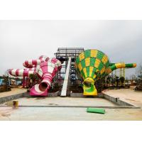 Best Colorful Tornado Water Slide Fiberglass Customized Safety Equipment wholesale