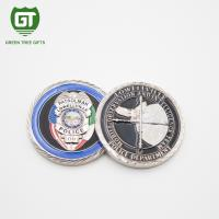 Best 3D effects Police challenge Coin with silver plating challenge coin wholesale