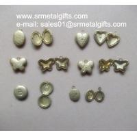 Buy cheap Miniature copper photo locket charms, mini brass photo locket pendant to from wholesalers