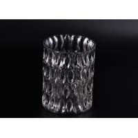 Best Crystal Round Sunken Surface Glass Candle Jar Glass Candlestick Holders wholesale
