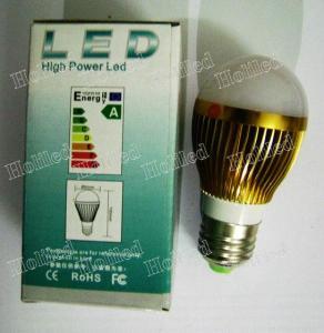 3W LED Bulb,276lm,E27,Aluminum Shell, AC100V-240V
