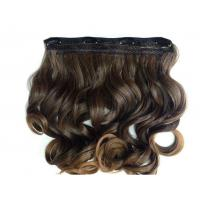 Best Heat Friendly Natural Curly Hair Wigs Double Weft Clip In Hair Extensions wholesale