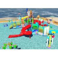Best Family Slide Theme Park Design Spiral / Straight Fun Interactive Water Rides wholesale