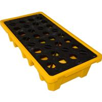 Best Convenient 4 Drum / 2 Drum Spill Containment Pallet With Drain For Oil Drum wholesale