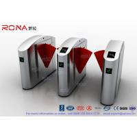 Best Flap Barrier Gate TCP / IP Flap Turnstile Security Gate Access Control Wheelchair Lanes For Subway Doors wholesale