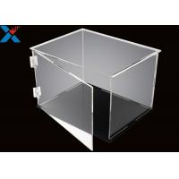Best Rectangle Acrylic Display Box Open Door Assembled Clear Dust Storage Box wholesale