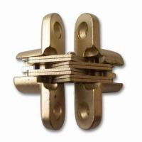 Cheap Zinc-alloy Conceal Cabinet Hinges with Brass or Nickel Plating for sale