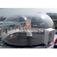 Best PVC Airtight Tent For Beach , Inflatable Clear Dome Tent Rain Resistance wholesale