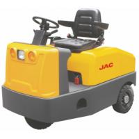 Battery Operated  4 Wheel Platform Truck , Airport Tow Tractor High Range Steering Design