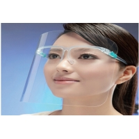 Best 2020 Hot Sale Anti-Fog Transparent Protective Face Shield With Glassses Frame wholesale