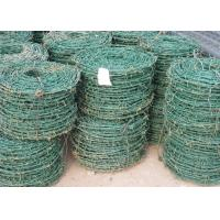 Best PVC / PE Coated Green Barbed Wire High Security Fence For Airport BWG8 - 20 wholesale