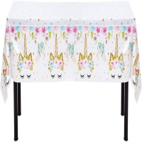 Best Gravure Printing PEVA Plastic Disposable Tablecloth 54x108 Inches wholesale