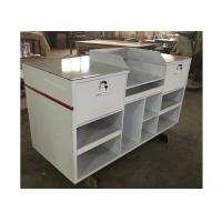 Best 1.5M Length Lightweight Retail Checkout Counter With Artificial Stone Simple Style wholesale