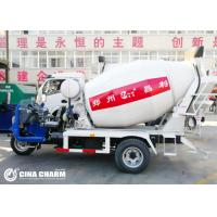 China 3 Wheel 28 - 32hp 2m3 Concrete Mixer Truck With Air Brake System Hydraulic Steering on sale