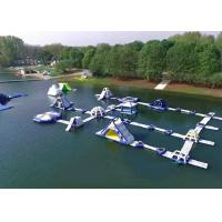 Best Exciting Sports Floating Water Park , Inflatable Aqua Park PVC Tarpaulin Materials wholesale