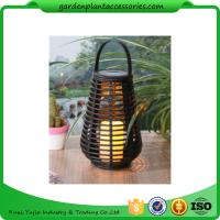 Cheap Exterior Rattan Solar Lights , Solar Powered Yard Lights With 2V / 40MA Solar Panel for sale