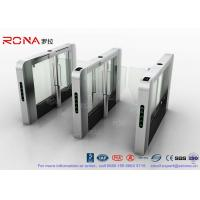 Best DC Servo Motor Speed Gate Turnstile Pedestrian Barrier 600mm-1200mm Passage Width wholesale