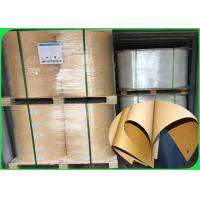 Best 200gsm Pure Wood Pulp Smooth  Clean Sufface Brown Kraft Paper In Roll wholesale