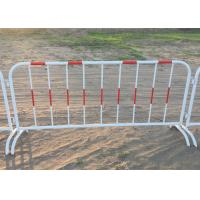 Best Mobile Traffic Barriers 1.1m Height Security Fence Galvanized Tube wholesale