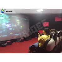 Best Striking Amusement 7D Movie Theater With Gun Playing , Motion Chair wholesale