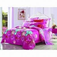 Buy cheap Floral/strips reactive printed bedding set from wholesalers