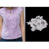 Best 3D Flower Lace Trim Custom Guipure Embroidery Lace Collar Applique With OEKO-Tex wholesale