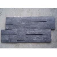 Best Black Natural Slate Artificial Culture Stone Bathroom Wall Cladding Tile 600x150mm wholesale