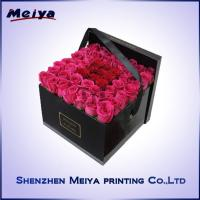 Valentine Flower Cardboard Gift Packaging Boxes , Ribbons round gift boxes for Rose