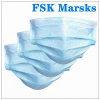Best Anti Spray 3 Ply Disposable Face Mask Hospital Mouth Mask Length 175mm wholesale