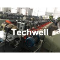 Best Octagonal , Octagon Pipe Roll Forming Machine for Rolling Shutter Axes With Manual Decoiler / Uncoiler wholesale