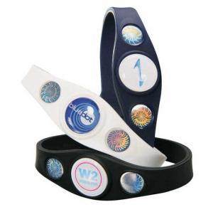 Best Power Custom Silicone Bracelets Silicone Balance Bracelet 3 Holograms wholesale
