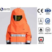 Best Orange S-3XL Welding Protective Clothing Arc Flash Proof Full Size For ASTM F19 wholesale