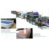 China Insulated EPS Sandwich Panel Production Line with Decoiler / Laminating Device on sale