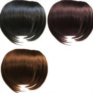 Best Black And Brown Custom Human Hair Wigs / 100% Remy Virgin Hair Fringe Wig wholesale