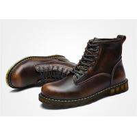 Best Cowhide Oil Leather Lace Up Ankle Boots , Doc Martin Mens Boots EU 35-44 Size wholesale