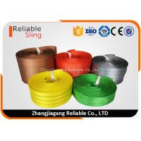 Best Light weight Color Coded Polyester Cargo Webbing , 25mm-300mm Flat Webbing wholesale