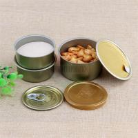 Best 50g Weed Easy Open Small Tin Containers With Two Pieces / Metal Tin Box wholesale