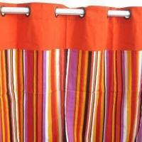 Best Canvas striped design cafe curtain, customized sizes, types and packing types are accepted wholesale