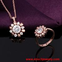 Best Wholesale China Supplier White Gemstone Birthday Gift for Women Gold wholesale