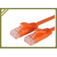 Best Cat5e Copper Network Patch Cable Multi Wire With Orange Color PVC Jacket wholesale