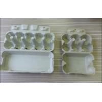 Safety Molded Pulp Products , Eco-Friendly Molded Pulp Trays For Egg Packaging