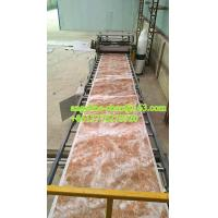 Best 1220mmx2440mm pvc stone powder imitation marble wall tile wall sheet production line wholesale