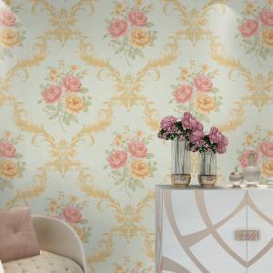 Best Hot sale good quality flower design waterproof mould proof PVC vinyl wall paper wholesale