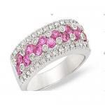 Best Diamond & pink topaz ring wholesale